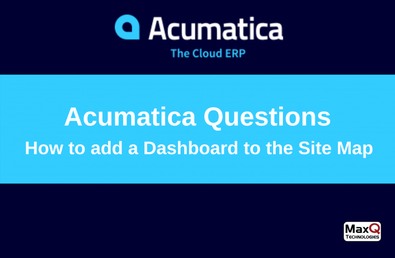 Read more about the article Acumatica Dashboards