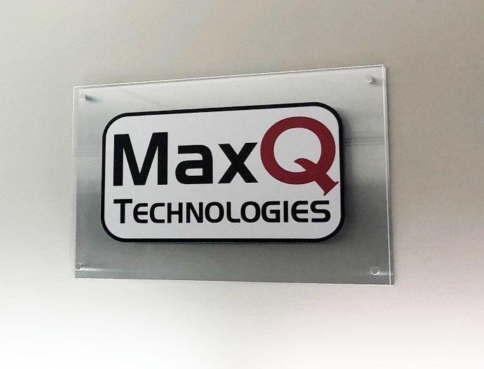 MaxQ Technologies office plaque